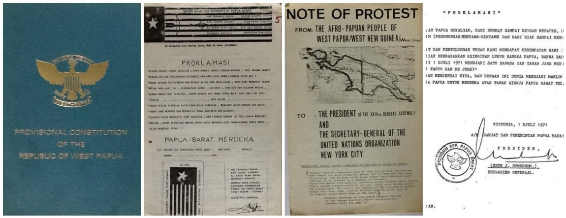 The proclamation of West Papua