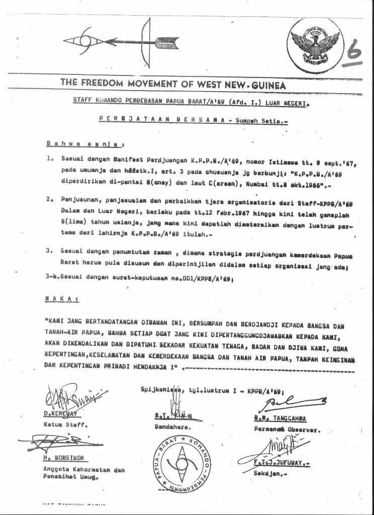 Proclamation west papua 1 july 1971 (2)