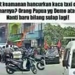 Indonesia Police Block the way of KNPB 13 2016